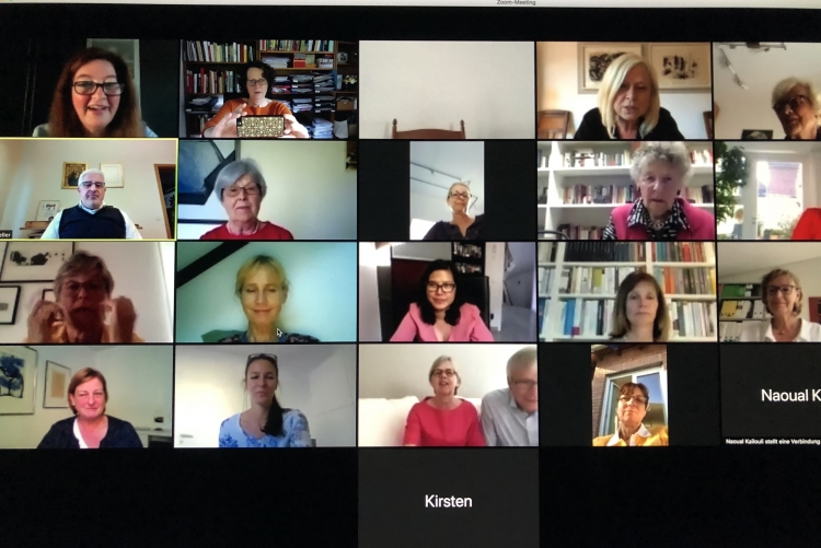 Zonta Club beim Zoom-Meeting