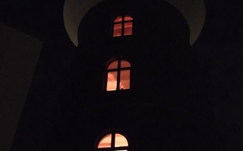 Funkenturm in der Neuen Bahnstadt