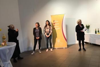 Susanne Wedewer-Pampus vom International Komittee des YWPA: Die Leverkusener Preisträgerin wird nun automatisch auch auf District-Ebene antreten!